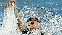 Simona Baumrtová při MS v krátkém bazénu v Istanbulu na trati 200 metrů znak