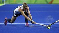 Britská pozemní hokejistka Kate Richardsonová-Walshová v zápase proti Japonsku.