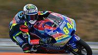Český motocyklista Jakub Kornfeil v tréninku na Grand Prix České republiky v Brně.