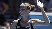 Spokojená Karolína Plíšková. S Brazilkou Beatriz Haddadovou Maiaovou neměla česká jednička ve 2. kole Australian Open žádné problémy.