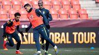 Obránce Thiago Silva během tréninku.