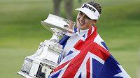 Australanka Hannah Greenová překvapivě slaví titul na golfovém majoru PGA Championship KPMG.