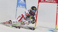 Rakouský lyžař Marcel Hirscher během obřího slalomu na mistrovství světa ve Svatém Mořici.
