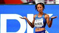 Olympijská vítězka v běhu na 100 metrů překážek Brianna McNealová na snímku z MS 2019 v Dauhá.