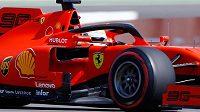 Sebastian Vettel při tréninku na Velkou cenu Německa na Hockenheimringu.