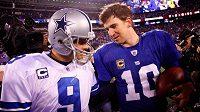 Tony Romo a Eli Manning se spolu utakjí v úvodním zápase nové sezóny