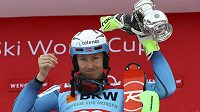 Norský slalomář Henrik Kristoffersen po triumfu ve Wengenu