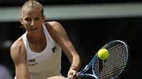 Karolína Plíšková během druhého kola Wimbledonu.