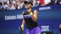 Bianca Andreescuová během finále US Open.