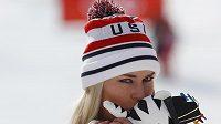 Američanka Lindsey Vonnová brala ve sjezdu bronzovou medaili.
