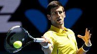 Novak Djokovič na letošním Australian Open.