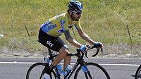 Britský cyklista Bradley Wiggins během závodu Kolem Kalifornie.
