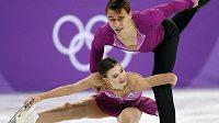 Juniorští mistři světa z roku 2016 Anna Dušková a Martin Bidař mají za sebou v soutěži sportovních dvojic krátký program.