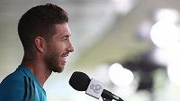 Sergio Ramos na tiskové konferenci.