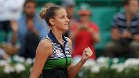 Karolína Plíšková po vítězství v osmifinále French Open.