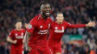 Liverpoolský Naby Keita oslavuje gól proti Portu v úvodním čtvrtfinále Ligy mistrů.