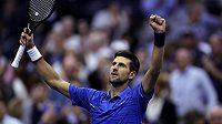 Srb Novak Djokovič po vítězství ve druhém kole US Open.