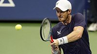 Britský tenista Andy Murray v akci.