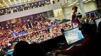 Loňské Mistrovství v počítačových hrách přilákalo na brněnské výstaviště tisícovky fanoušků, letošní ročník se kvůli pandemii koronaviru odehrává online. Archivní foto