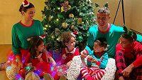 Cristiano Ronaldo si užíval Vánoce ve společnosti svých nejbližších.