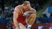 Zklamaný zápasník David Vála, londýnskou olympijskou žíněnku opustil již po 1. kole.