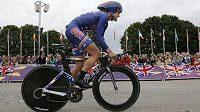 Kristin Armstrongová na olympijské trati v Londýně.