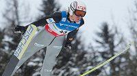 Bývalý světový rekordman v letech na lyžích Björn Einar Romören na snímku z doby závodní kariéry.
