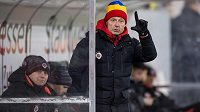 Trenér Sparty Zdeněk Ščasný při přípravě proti Borussii Dortmund.