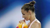 Karolína Plíšková při semifinále s Japankou Naomi Ósakaovou.