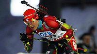 Jitka Landová na trati sprintu.