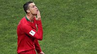 Cristiano Ronaldo a jeho oslava gólu proti Španělsku.