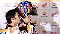 Španěl Dani Pedrosa během tréninku při GP Japonska.