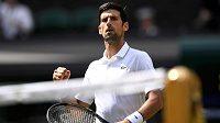 Novak Djokovič v prvním kole Wimbledonu.