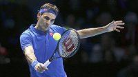 Švýcarský tenista Roger Federer na Turnaji mistrů v Londýně.