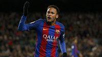 Neymar z Barcelony při utkání s Bilbaem.
