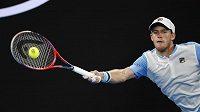 Argentinský tenista Diego Schwartzman během utkání třetího kola Australian Open.