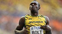 Usain Bolt, vítěz stovky z mistrovství světa v Moskvě.