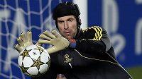 Petr Čech v brance Chelsea.