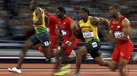 Usain Bolt v čele smečky nejrychlejších mužů planety.