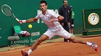 Novak Djokovič na turnaji v Monte Carlu