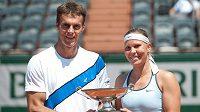 František Čermák s Lucií Hradeckou na Roland Garros.