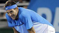 Zklamaný argentinský tenista Juan Martín Del Potro.