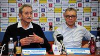 Zleva předseda představenstva Pavel Šedlbauer a ředitel klubu Petr Hynek.