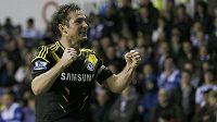 Frank Lampard z Chelsea slaví gól do sítě Readingu, londýnský tým ale nakonec na vítězství nedosáhl.