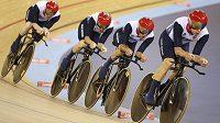 Britské kvarteto Edward Clancy, Geraint Thomas, Steven Burke a Peter Kennaugh získali na olympijských hrách v Londýně zlato ve stíhacím závodě družstev v novém světovém rekordu.