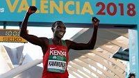 Kamworor je velký bojovník. Kipchoge věří, že po něm převezme žezlo. (MS v půlmaratonu 2018, Valencie, Španělsko)