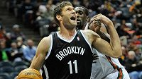 Basketbalista Brooklynu Brook Lopez.