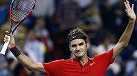 Švýcar Roger Federer v Šanghaji vyřadil v semifinále Novaka Djokoviče.
