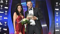 Judista Lukáš Krpálek vyhrál anketu Sportovec roku 2019, na snímku po vyhlášení s partnerkou.