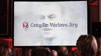 Udílení cen Václava Jíry v Praze. Ocenění uděluje Fotbalová asociace ČR za přispění k rozvoji českého fotbalu.